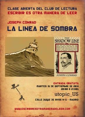 """Clase abierta sobre """"La línea de sombra"""", de Joseph Conrad (porLucía)"""