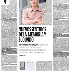 Entrevista en Suplemento Ñ del DiarioClarín